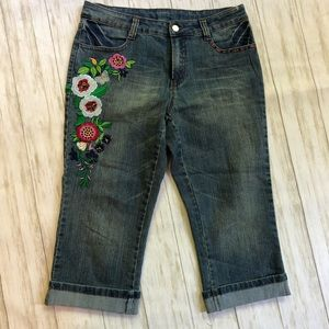 💚Boston Proper Capri jeans